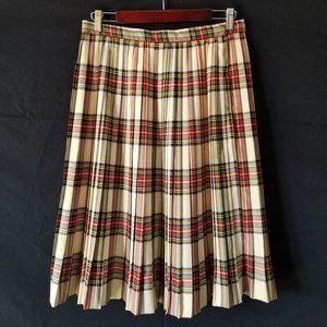 VINTAGE 50s Wool Blend Tartan Plaid KILT